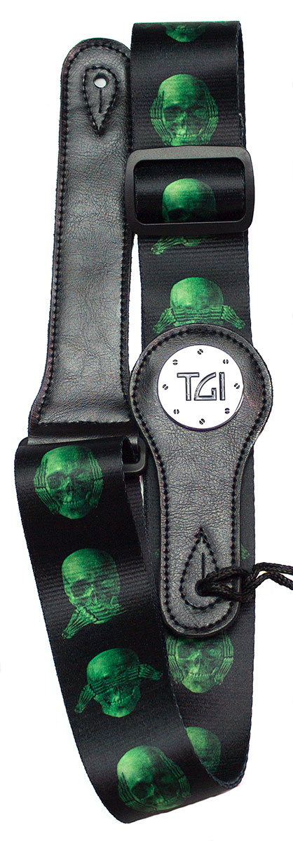 TGI Strap Skull Green