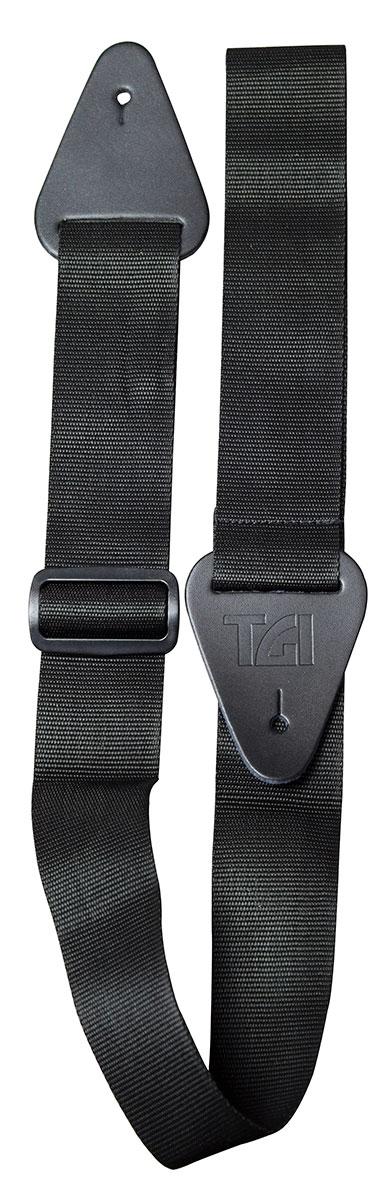 TGI Strap Woven Plain Black Extra Long