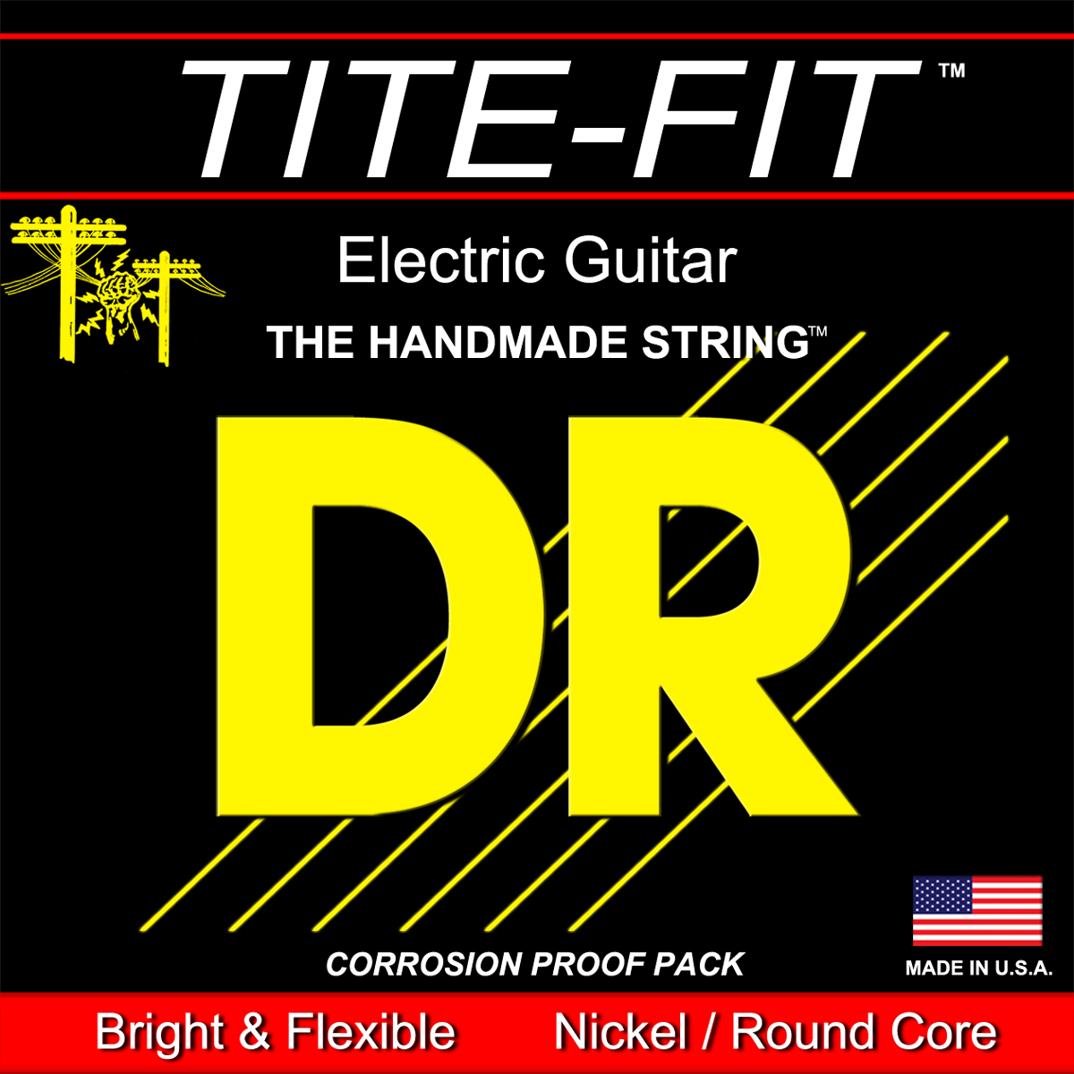 DR Strings Tite-Fit Electric Light-Heavy