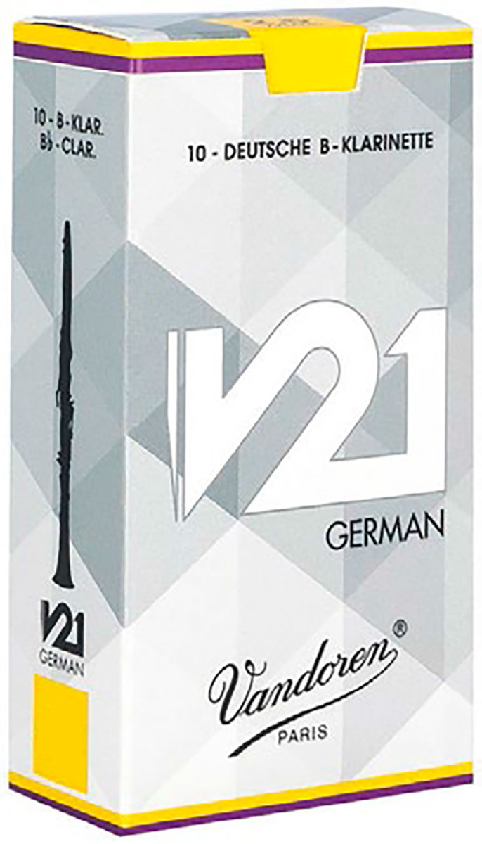 Vandoren Reeds Clarinet Bb 2 V21 German 10 BOX