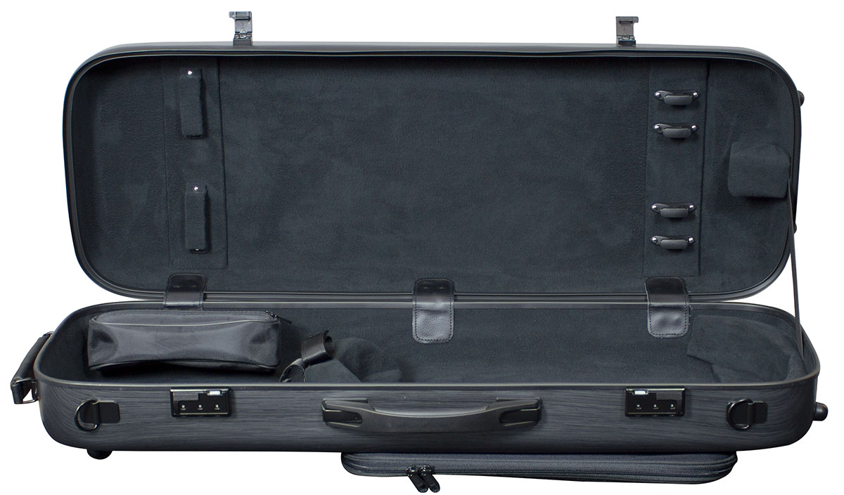 Hidersine Case Polycarbonate Viola Oblong Brushed Silver