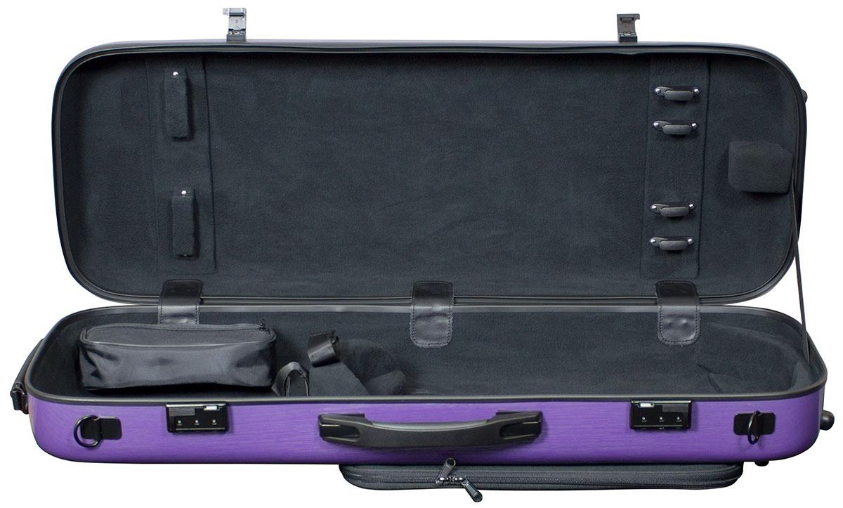 Hidersine Case Polycarbonate Viola Oblong Brushed Purple