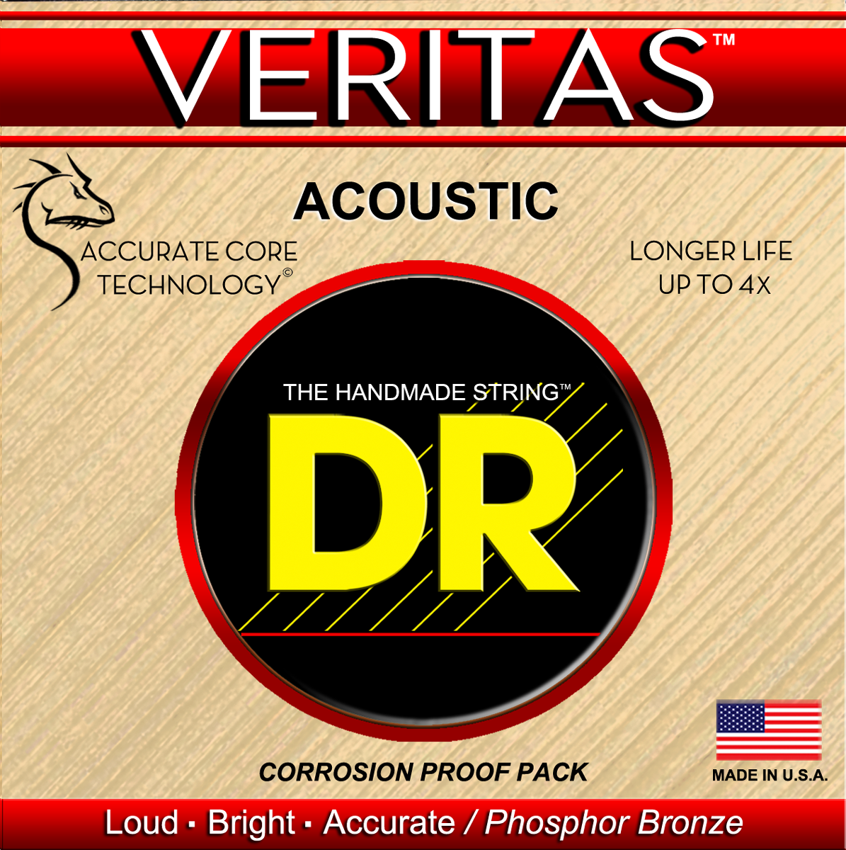 DR Strings Veritas Acoustic Heavy