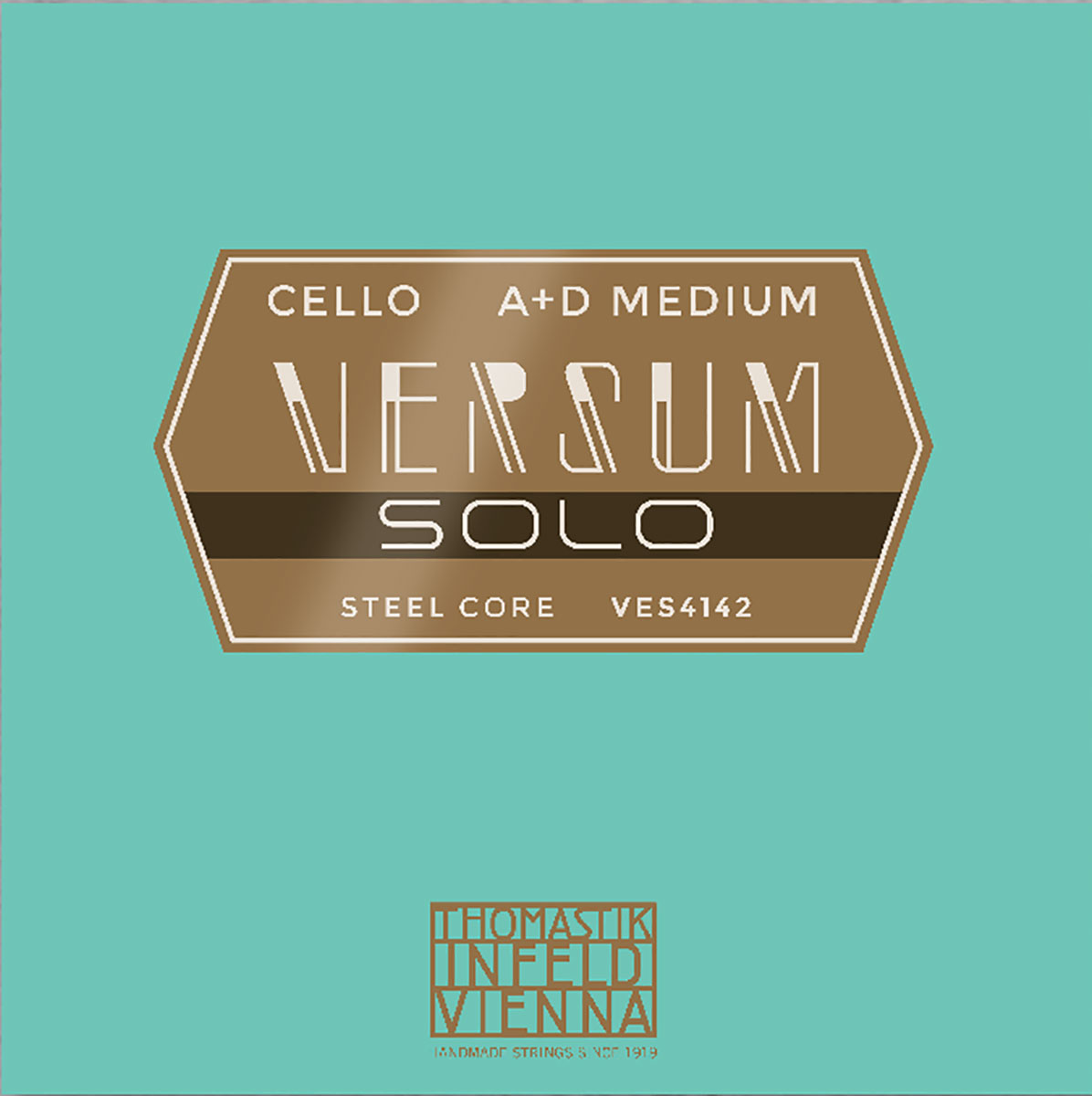 Versum Solo Cello String A + D Pack Multialloy Wound, Steel Core