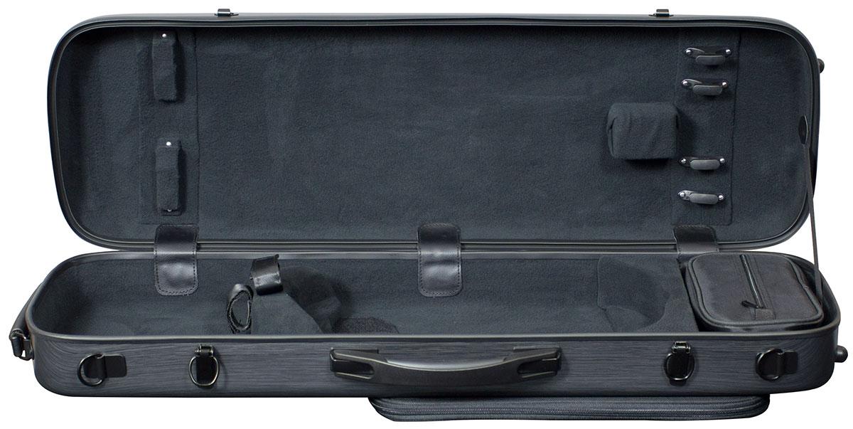 Hidersine Case Polycarbonate Violin Oblong Brushed Silver