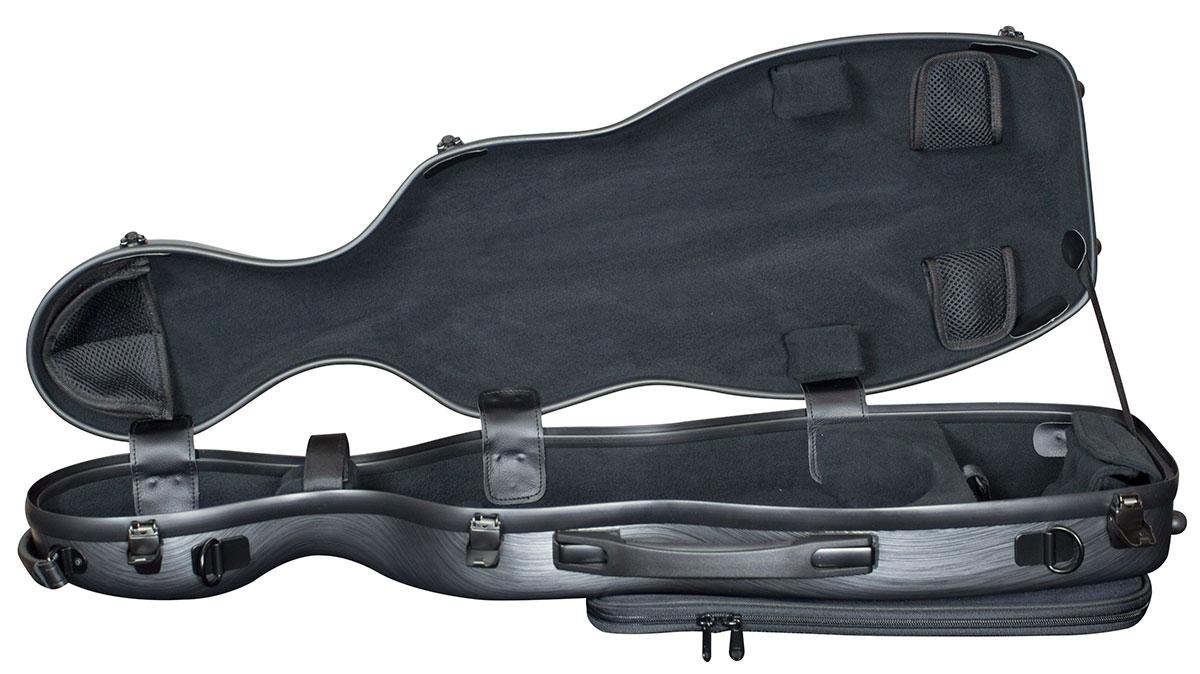 Hidersine Case Polycarbonate Violin Gourd Brushed Silver
