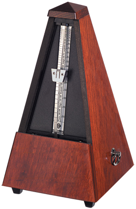 Wittner Metronome Wooden Mahogany Clr High Polish w/Bell