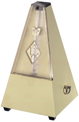 Wittner Metronome Plastic Ivory White With Bell