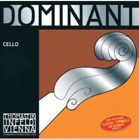 Dominant Cello String C. Silver Wound. 4/4 - Weak