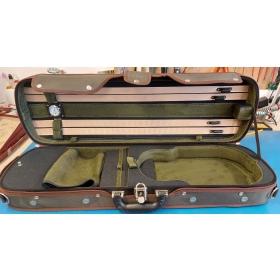 Hidersine Violin Case 4/4 Light Oblong - Olive- B-Grade Stock- CL1192