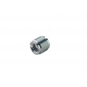 K&M Thread Adapter Zinc Plated 1/2 - 3/8 inch