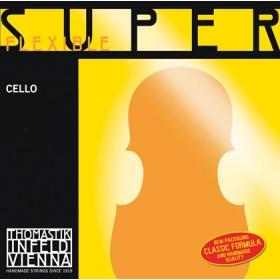 SuperFlexible Cello String D. Chrome Wound 4/4 - Weak*R