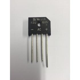 Bridge Rectifier Inline 600v 6A