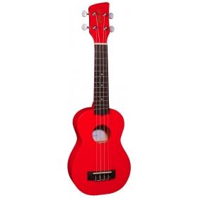 Brunswick Soprano Ukulele Red Satin - Aquila Strings