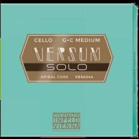 Versum Solo Cello String G + C Pack (Spiral Core Tungsten - Chrome Wound)