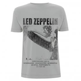 Led Zeppelin T-Shirt Medium - UK Tour 1969 Ice Grey
