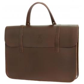 Montford Leather Music Case - Brown