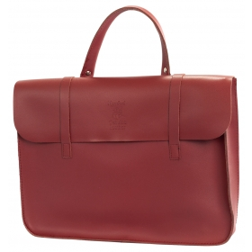 Montford Leather Music Case - Wine Red