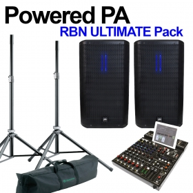 Powered PA - RBN Ultimate Pack - RBN Cabs, Mixer, Speaker Stands
