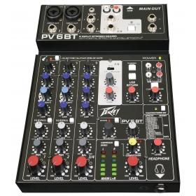 Peavey Mixer PV 6 BT (Bluetooth)