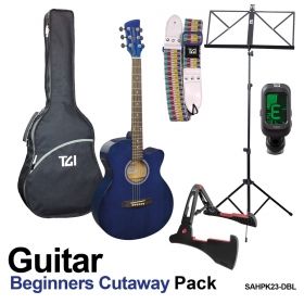 Beginners Guitar pack blue