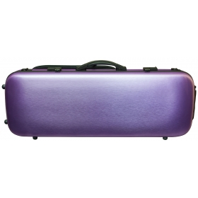 Hidersine Viola Case - Polycarbonate Oblong Brushed Purple