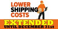 Reduced Shipping Costs EXTENDED to December 31st