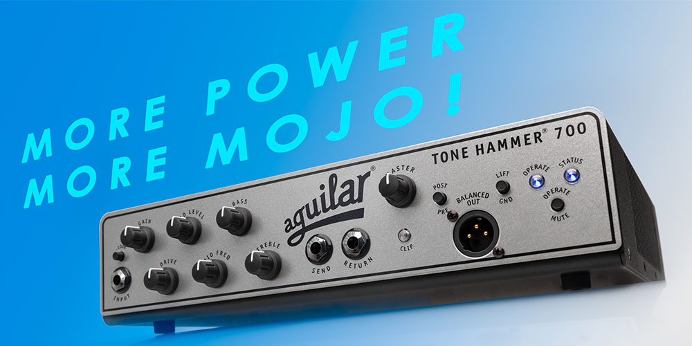Aguilar Amplification Tone Hammer® 700 bass amplifier lands in the UK.