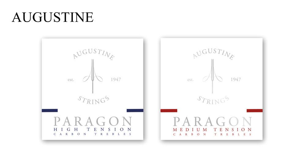 Augustine 'Paragon' carbon treble nylon guitar strings land in the UK.
