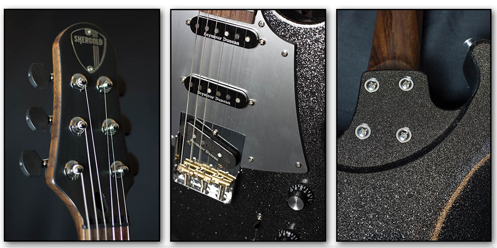 Shergold Guitars release 2018 Limited Edition Black Sparkle Masquerader.