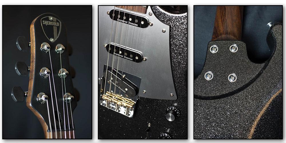 Shergold Guitars release 2018 Limited Edition Black Sparkle Masquerader.