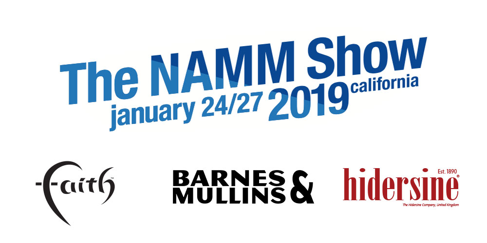 Faith Guitars & Hidersine Orchestral at NAMM 2019.