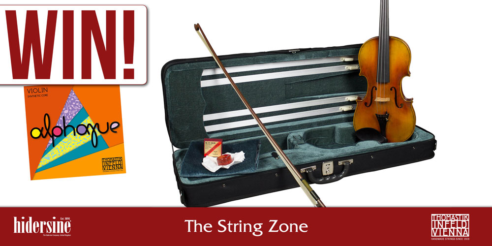 Hidersine & The String Zone partner to giveaway Veracini Violin & Thomastik Alphayue strings.