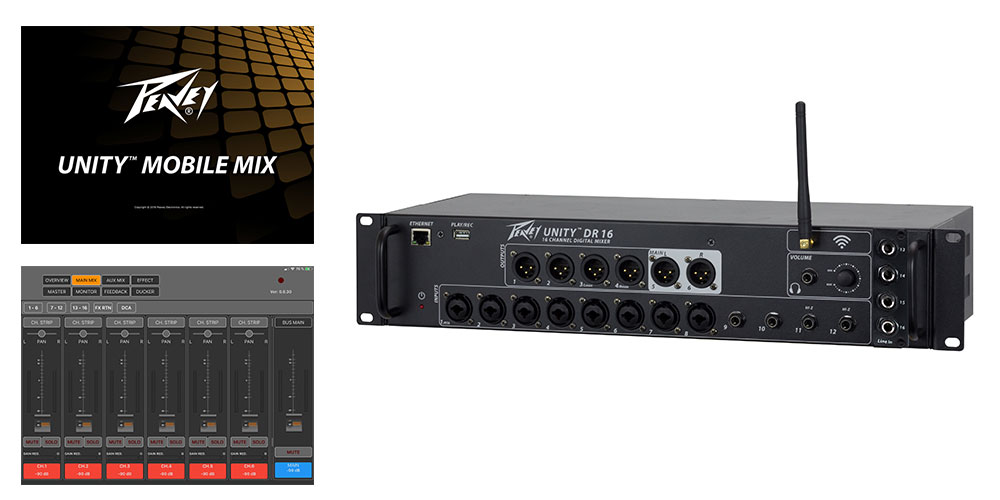 Peavey UNITY™ DR16 Digital Mixer lands in the UK.