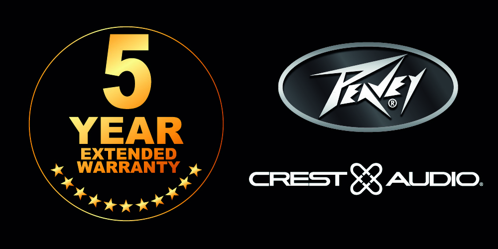 5 Year Extended Warranty offer for Peavey Pro Audio and Crest Audio