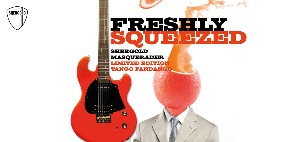 Shergold Guitars release 2019 Limited Edition 'Tango Fandango' Orange Masquerader.