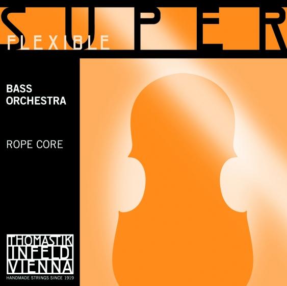 SuperFlexible Double Bass String E. Chrome Wound 1/2*R