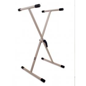 TGI Keyboard Stand Single Braced - Silver