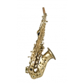 Artemis Soprano Sax Curved Outfit - Gold Lacquer