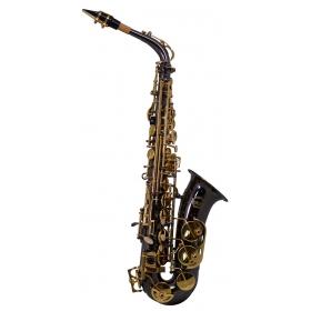 Artemis A1 Alto Sax Outfit - Black. Gold Lacquer Keys