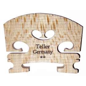 Violin Bridge - Aubert Model. Shaped and Fitted. 1/4