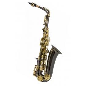 Trevor James Alphasax Alto Sax Outfit - Black Body Gold Lacquer Keys