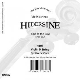 Hidersine Violin String D Synthetic Core 1/2 - 1/4