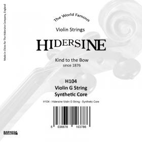 Hidersine Violin String G Synthetic Core 1/2 - 1/4