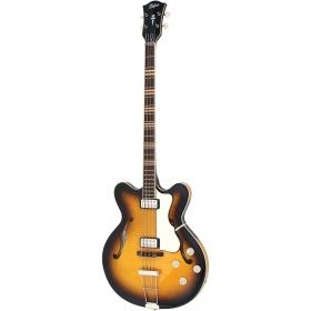 Hofner HCT Verythin Bass - Sunburst - Short Scale