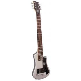 Hofner HCT Shorty Guitar - Silver