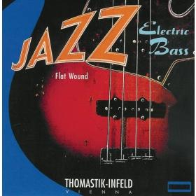 Thomastik Jazz Bass Strings SET Flatwound (short scale) 43-106