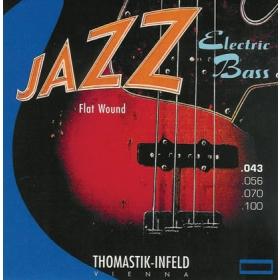 Thomastik Jazz Bass Strings SET. Flatwound. 4 String. Gauge 43-100