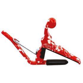 Kyser Capo Ukulele Red Hibiscus