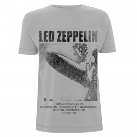Led Zeppelin T-Shirt XXL - UK Tour 1969 Ice Grey